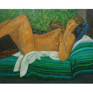 Mujer en verdes
